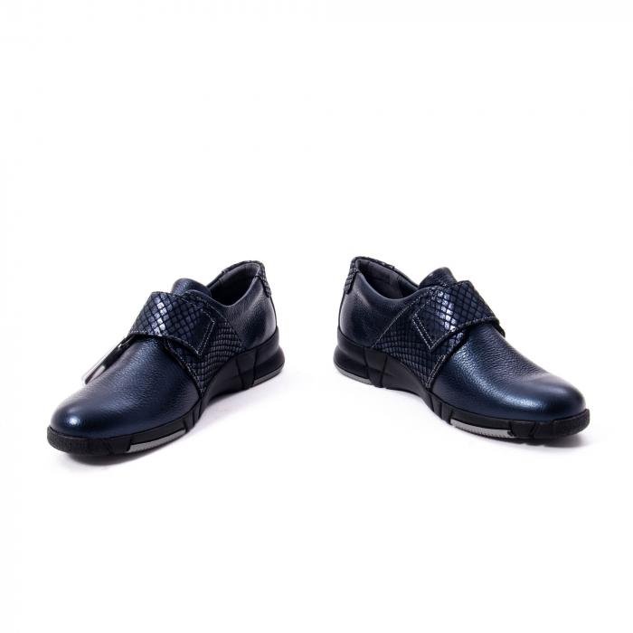 Pantofi casual dama piele Suave Sukyoto 9203, bleumarin 5