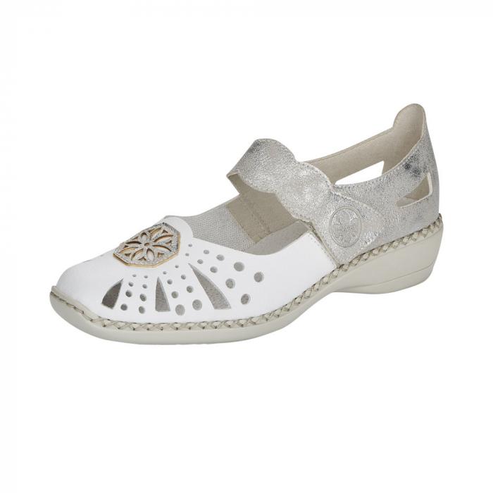 Pantofi decupati dama din piele naturala, 41368-80 0