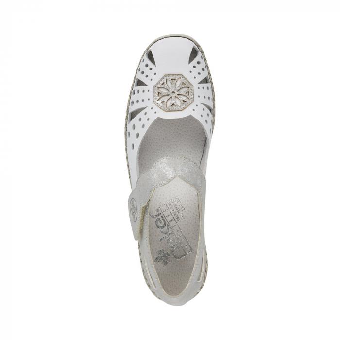 Pantofi decupati dama din piele naturala, 41368-80 1