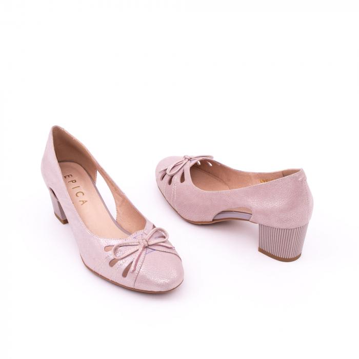 Pantofi dama decupati piele naturala Epica jyh363, nude 2