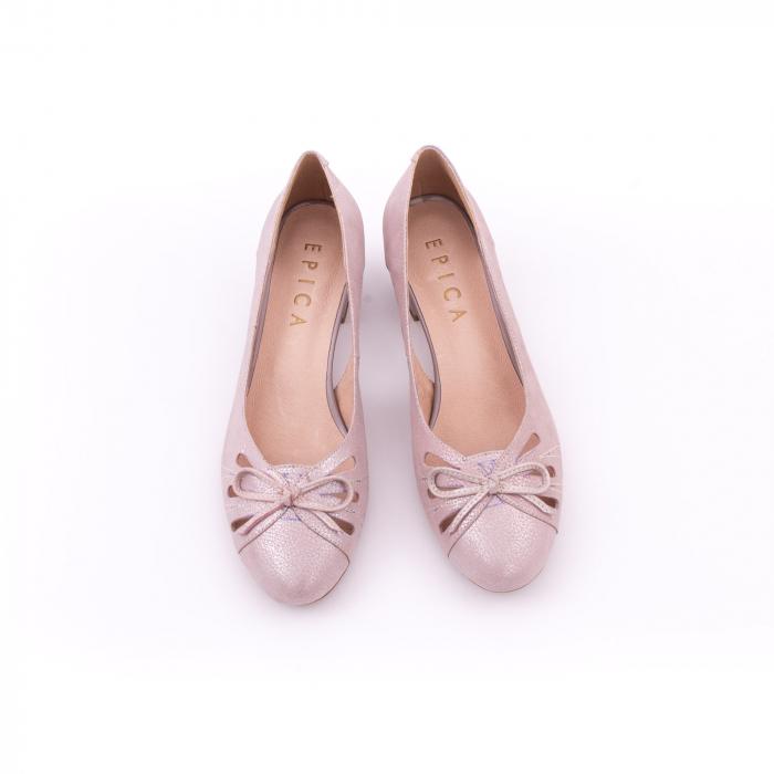 Pantofi dama decupati piele naturala Epica jyh363, nude 4