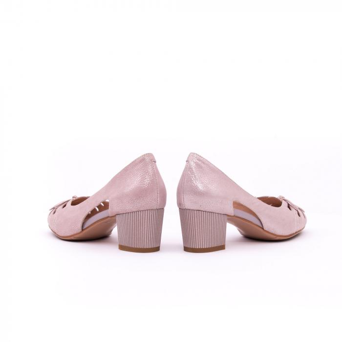 Pantofi dama decupati piele naturala Epica jyh363, nude 6