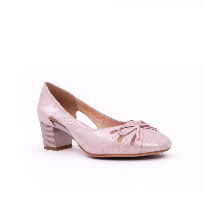 Pantofi dama decupati piele naturala Epica jyh363, nude 0