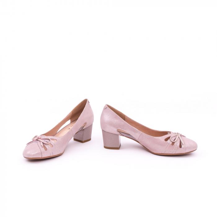 Pantofi dama decupati piele naturala Epica jyh363, nude 5