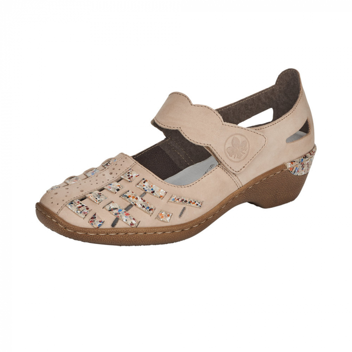 Pantofi decupati dama din piele naturala, 48369-60 [0]