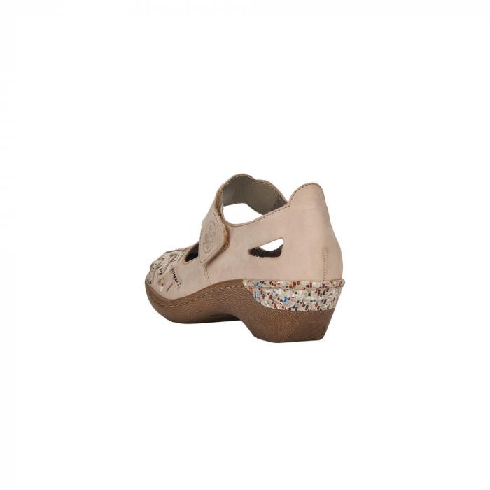 Pantofi decupati dama din piele naturala, 48369-60 [2]