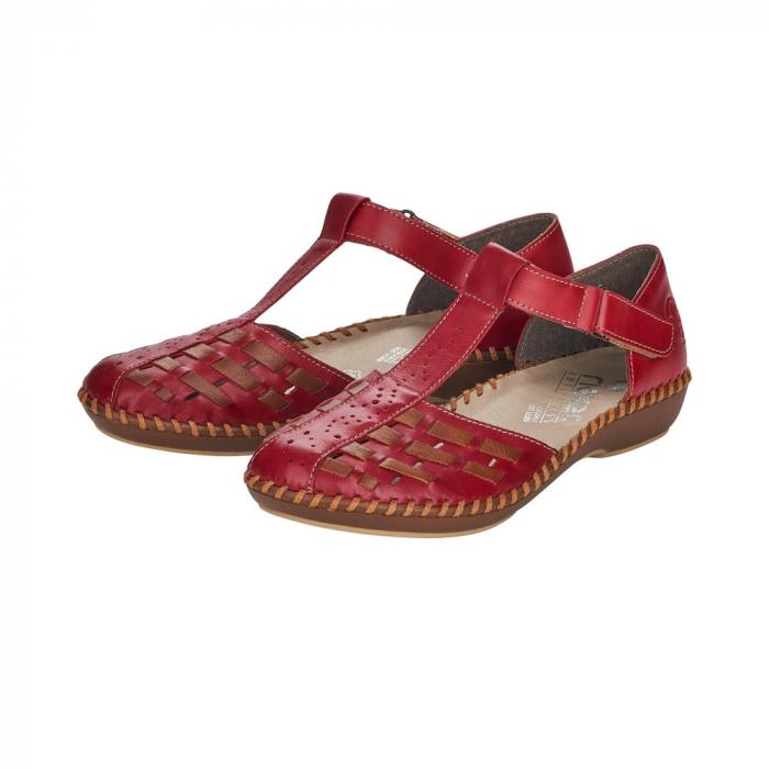 Pantofi decupati dama din piele naturala, M1658-33 5