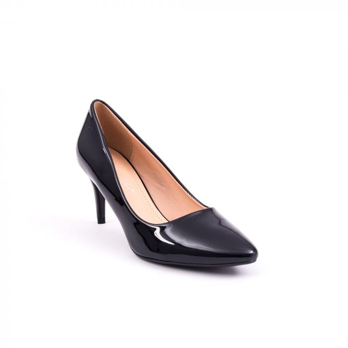 Pantof elegant 658 negru lac 0