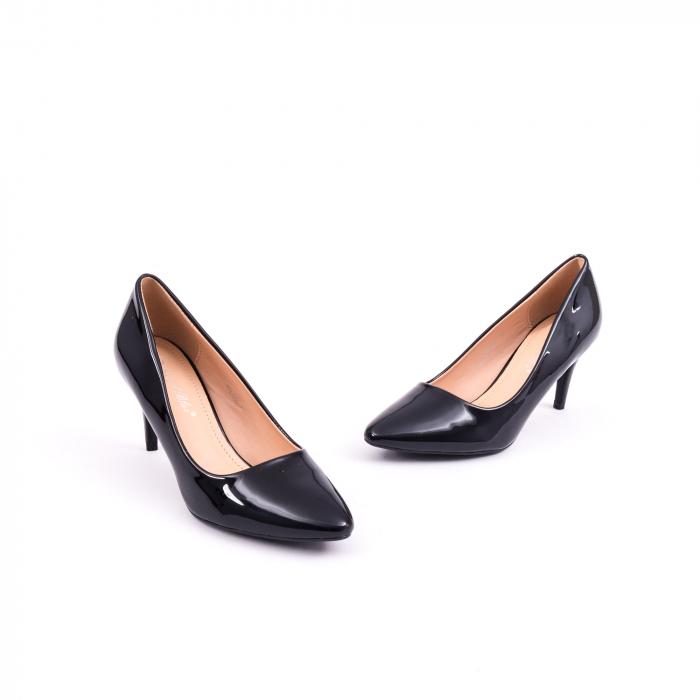 Pantof elegant 658 negru lac 1