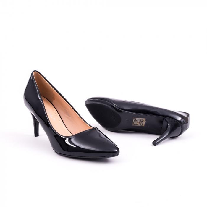 Pantof elegant 658 negru lac 2