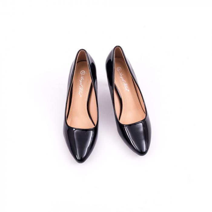 Pantof elegant 658 negru lac 4