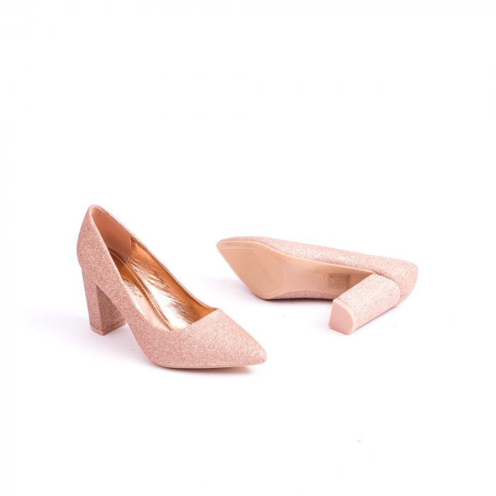 Pantof elegant 660 auriu-roze 2