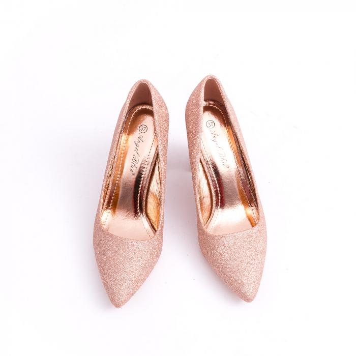 Pantof elegant 660 auriu-roze 5