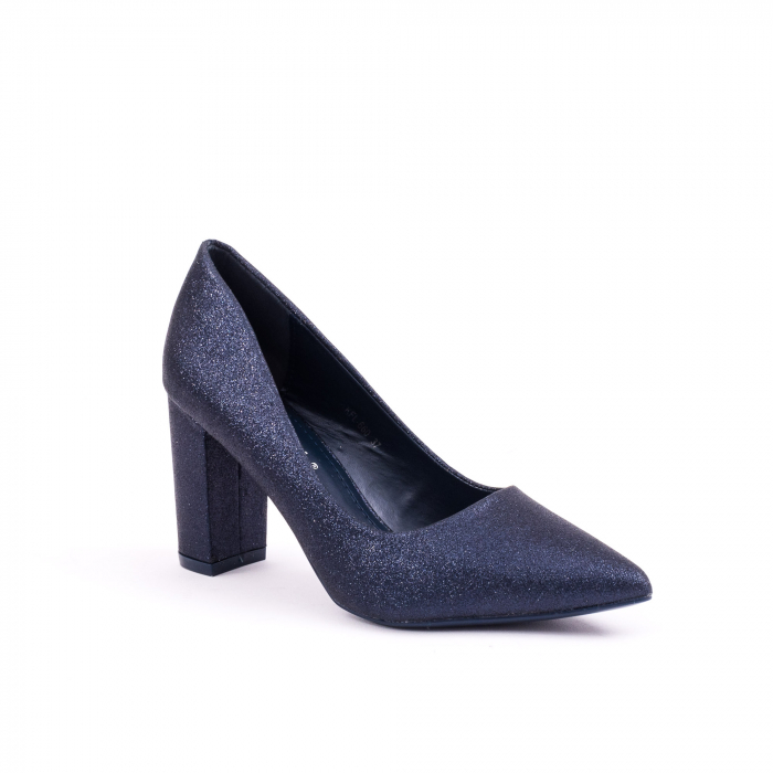 Pantof elegant 660 bleumarin glitter 0