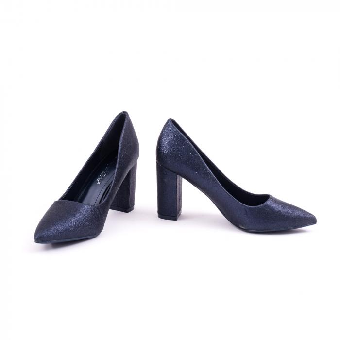 Pantof elegant 660 bleumarin glitter 4