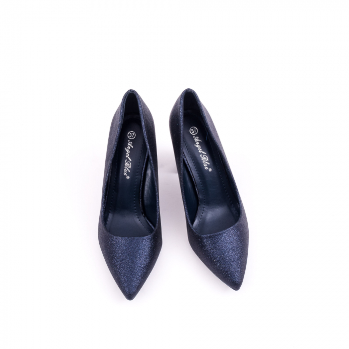 Pantof elegant 660 bleumarin glitter 5