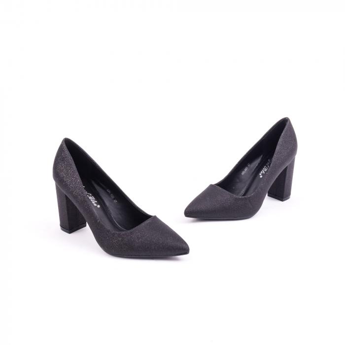 Pantof elegant 660 negru glitter 1