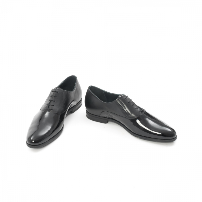 Pantof elegant barbat LFX 526 negru box cu lac. 4