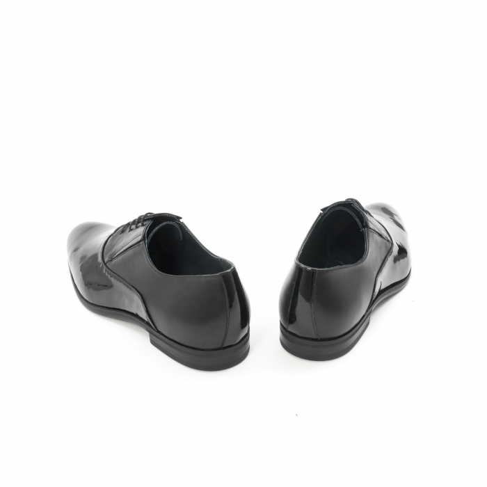 Pantof elegant barbat LFX 526 negru box cu lac. 6