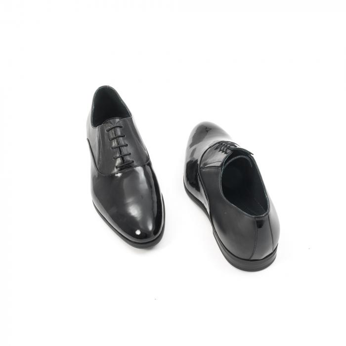 Pantof elegant barbat LFX 526 negru box cu lac. 2