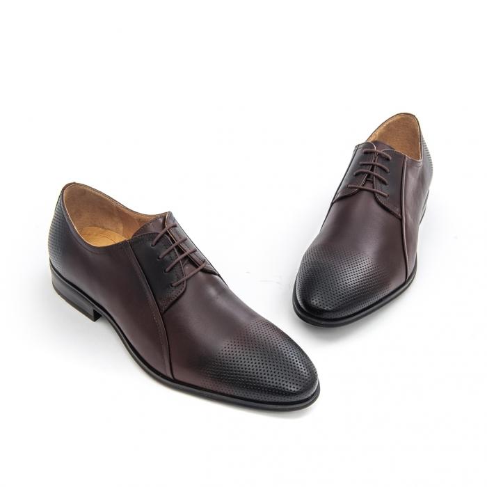Pantof elegant barbat LFX 743 - ciocolata box 1
