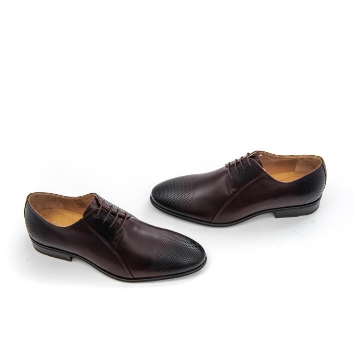 Pantof elegant barbat LFX 743 - ciocolata box 2
