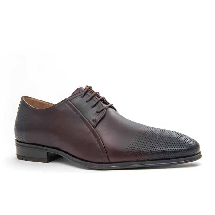 Pantof elegant barbat LFX 743 - ciocolata box 0
