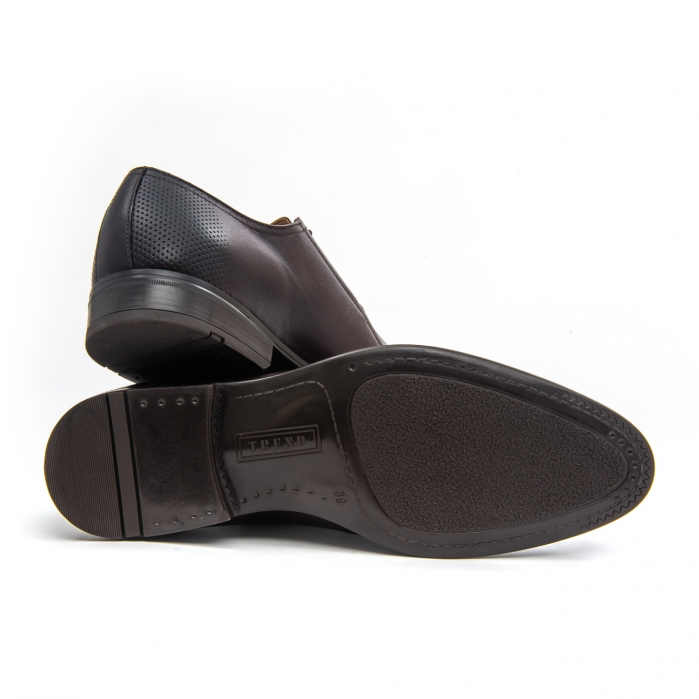 Pantof elegant barbat LFX 743 - ciocolata box 4
