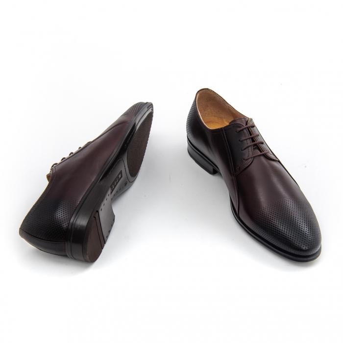 Pantof elegant barbat LFX 743 - ciocolata box 3