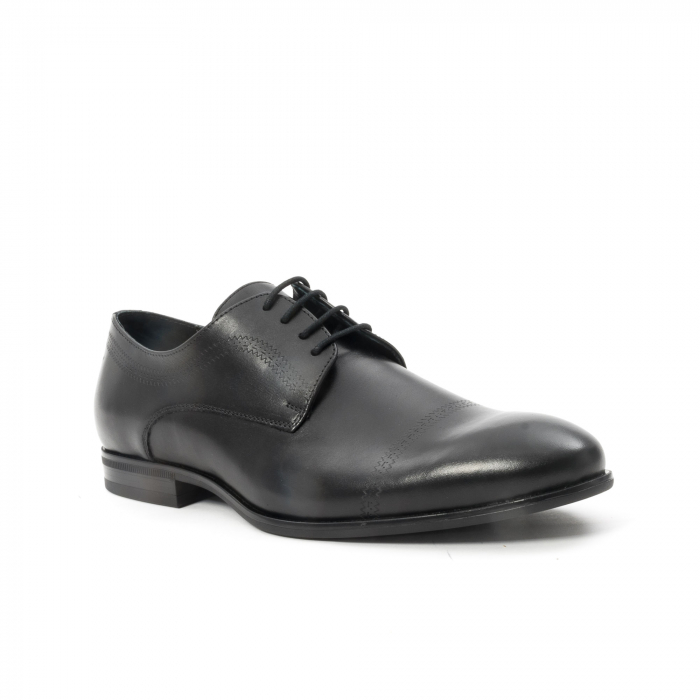 Pantofi barbati eleganti, piele naturala , Leofex 932, negru 0