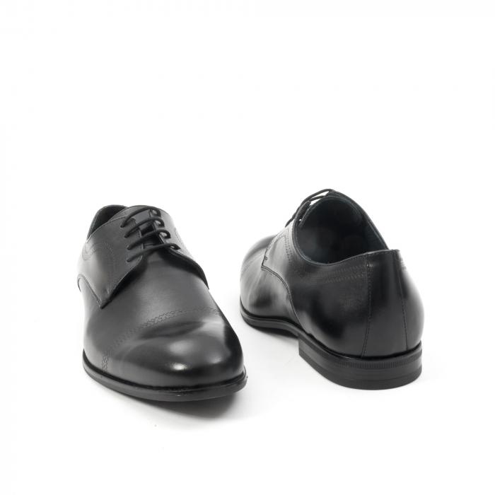 Pantofi barbati eleganti, piele naturala , Leofex 932, negru 2