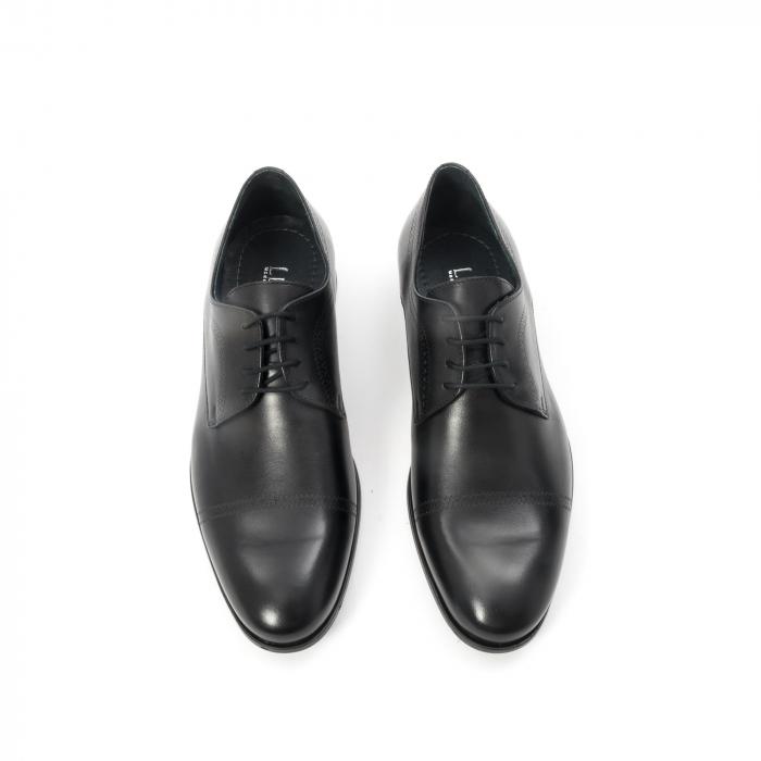 Pantofi barbati eleganti, piele naturala , Leofex 932, negru 5