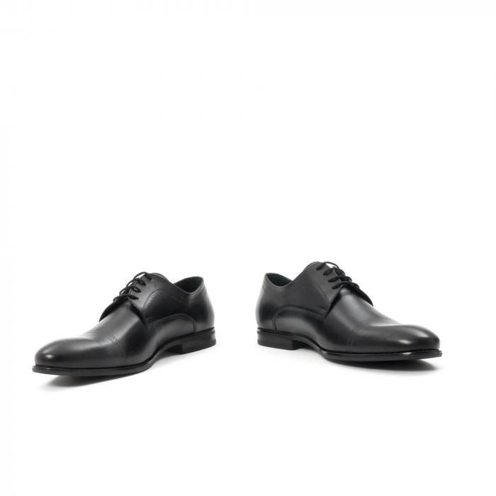 Pantofi barbati eleganti, piele naturala , Leofex 932, negru 4