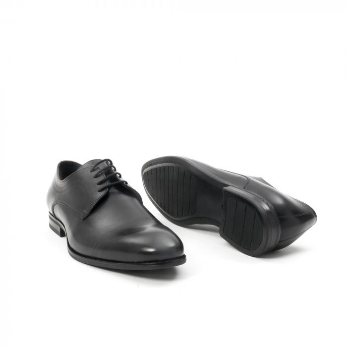 Pantofi barbati eleganti, piele naturala , Leofex 932, negru 3