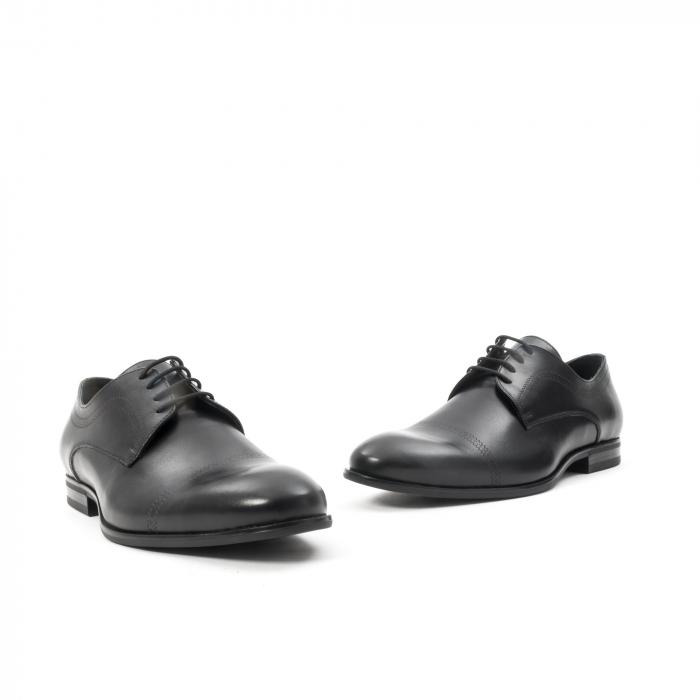 Pantofi barbati eleganti, piele naturala , Leofex 932, negru 1