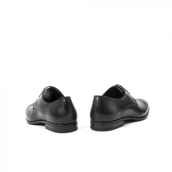 Pantofi barbati eleganti, piele naturala , Leofex 932, negru 6