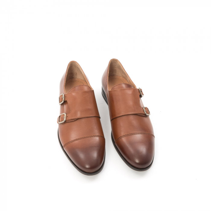 Pantofi barbati eleganti piele naturala Leofex 933, coniac 5