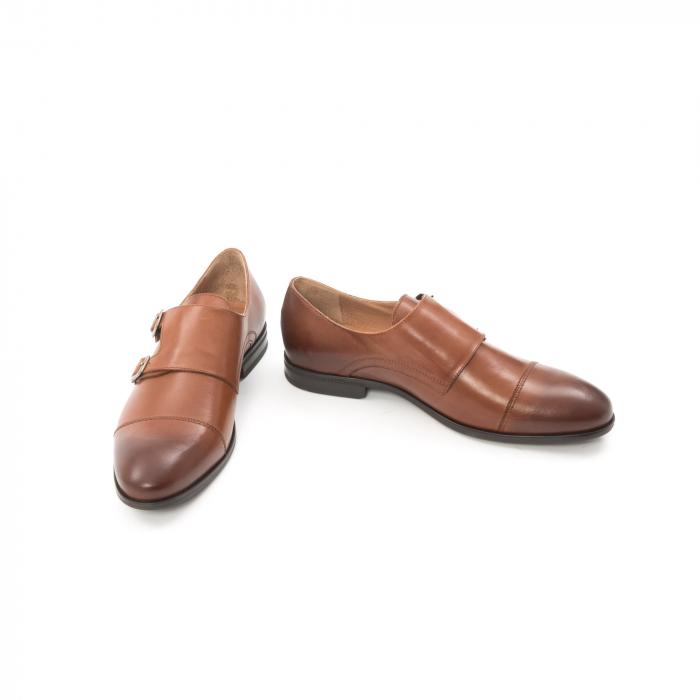 Pantofi barbati eleganti piele naturala Leofex 933, coniac 4