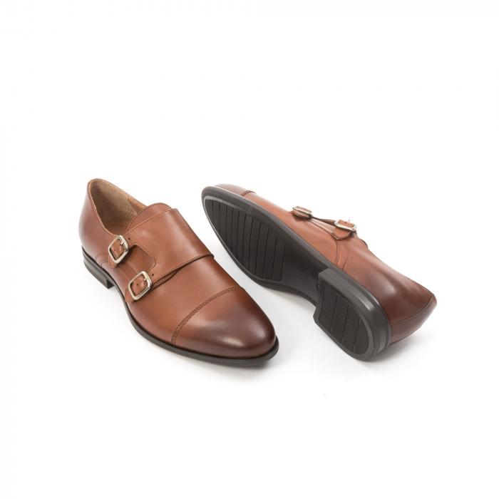 Pantofi barbati eleganti piele naturala Leofex 933, coniac 3