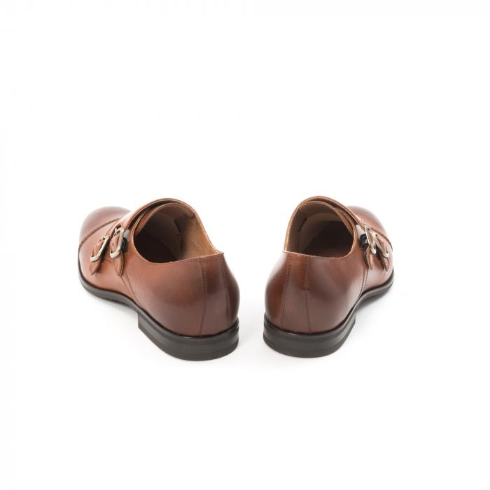 Pantofi barbati eleganti piele naturala Leofex 933, coniac 6
