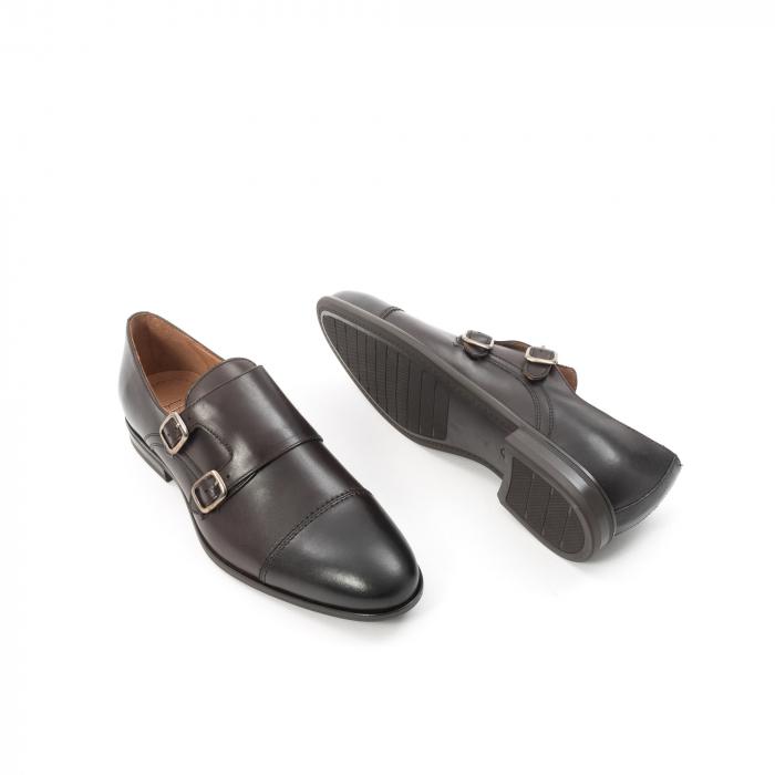Pantofi barbati eleganti piele naturala Leofex 933, visiniu 3