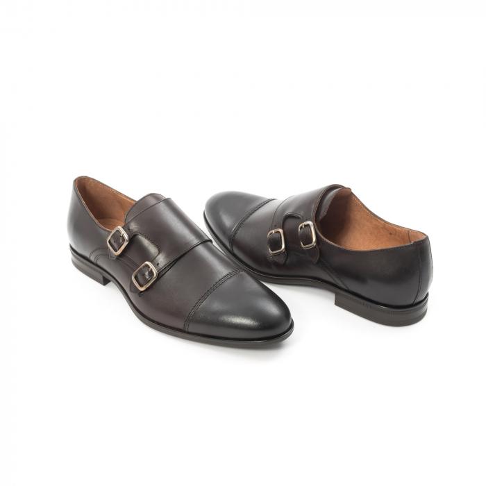 Pantofi barbati eleganti piele naturala Leofex 933, visiniu 2