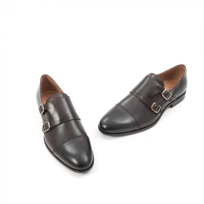 Pantofi barbati eleganti piele naturala Leofex 933, visiniu 1