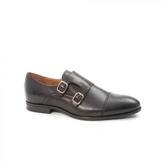 Pantofi barbati eleganti piele naturala Leofex 933, visiniu 0