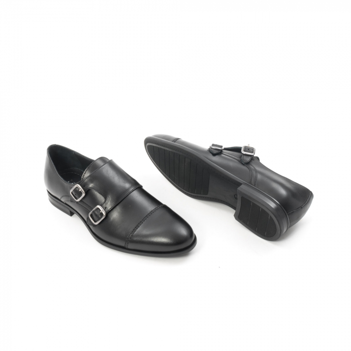 Pantofi barbati eleganti piele naturala Leofex 933, negru 3