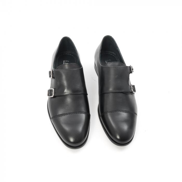 Pantofi barbati eleganti piele naturala Leofex 933, negru 5