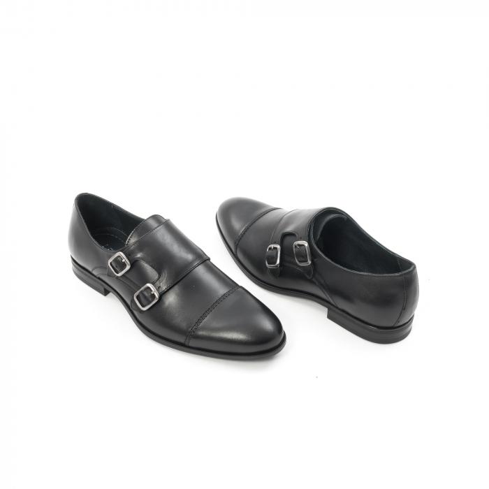 Pantofi barbati eleganti piele naturala Leofex 933, negru 2