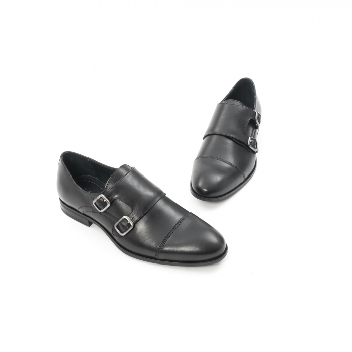 Pantofi barbati eleganti piele naturala Leofex 933, negru 1