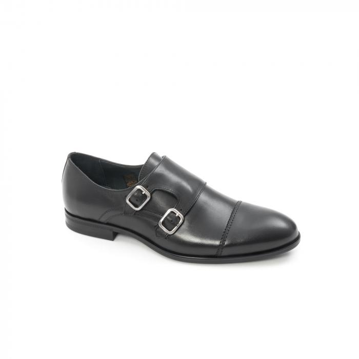 Pantofi barbati eleganti piele naturala Leofex 933, negru 0