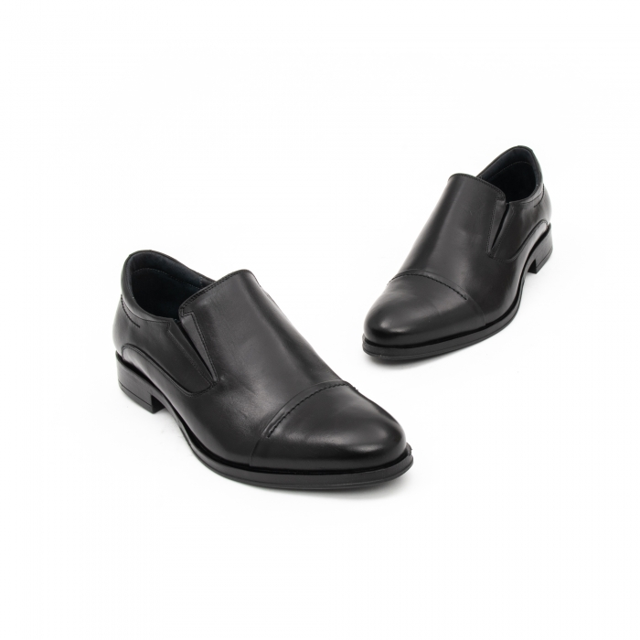 Pantof elegant barbat LFX 970 negru box 1